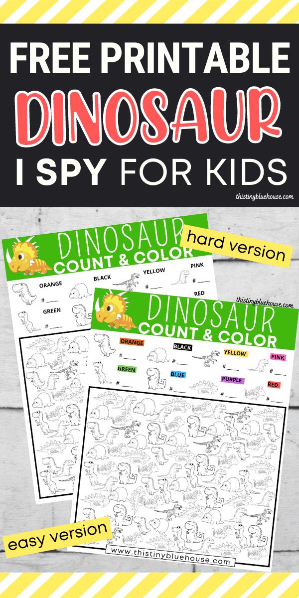 Free Printable Dinosaur I Spy Game