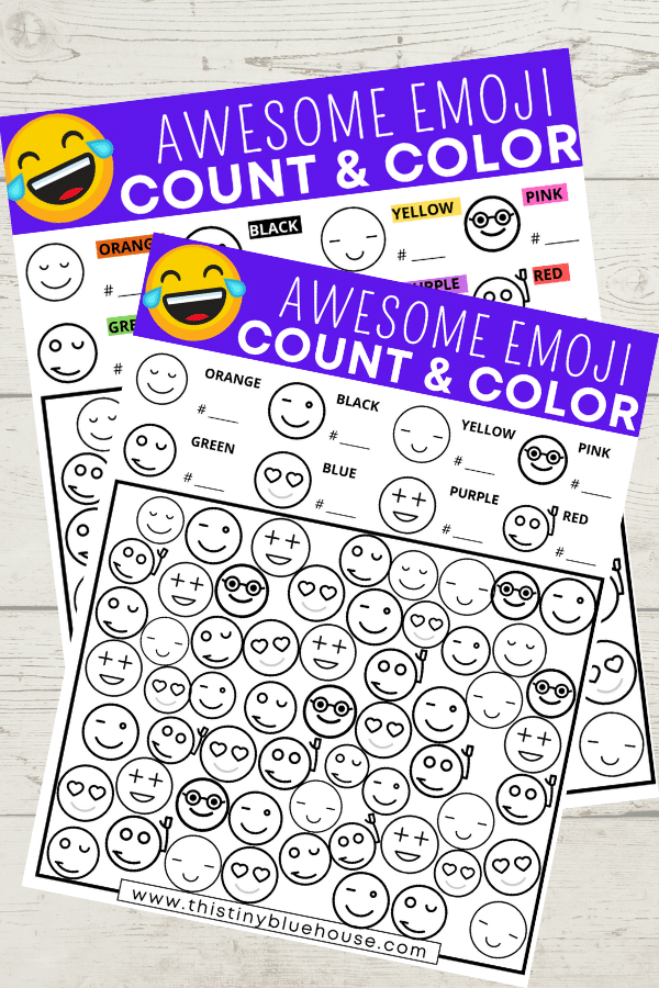 Free Printable Emoji I Spy Activity For Kids