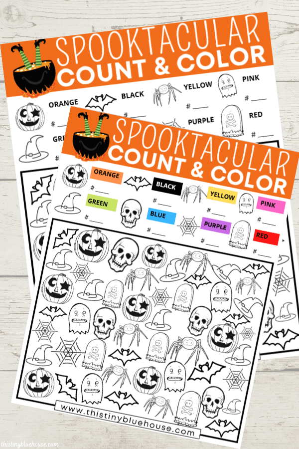 Free Printable Spooky Halloween I Spy Activity For Kids