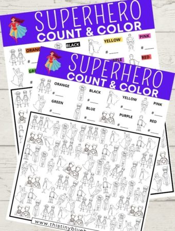 Free Printable Superhero I Spy Game