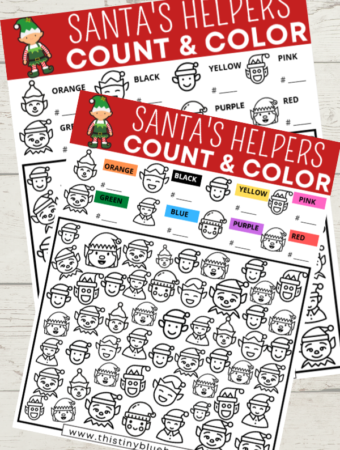 Free Printable Santa's Helpers I Spy Game For Kids