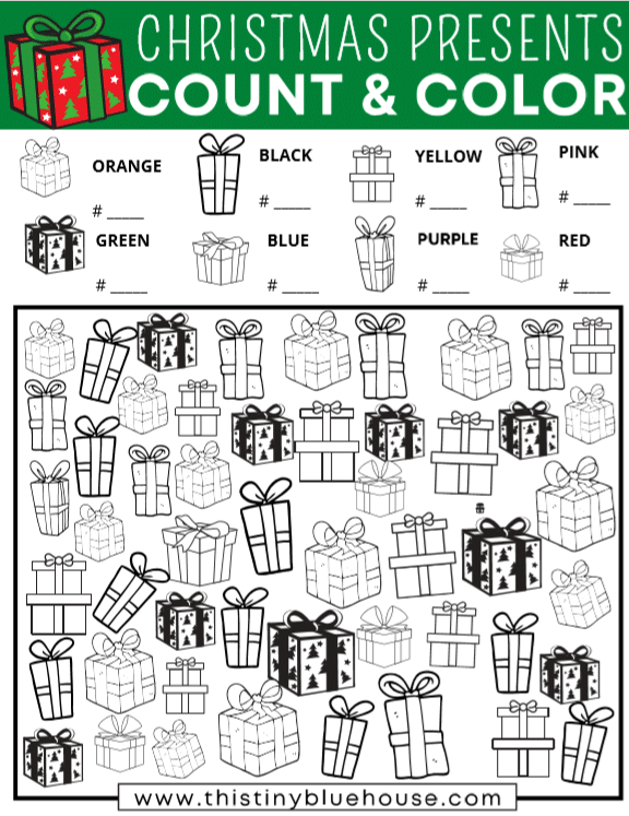 Free Printable Christmas Gift I Spy Game For Kids