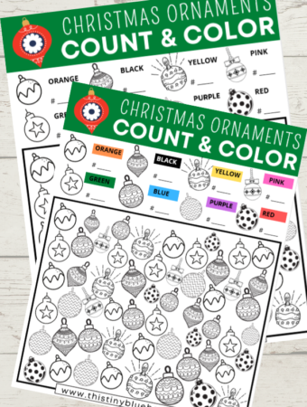 Free Printable Christmas Ornament I Spy Game For Kids