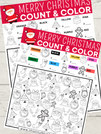 Merry Christmas I Spy (Free Printable)