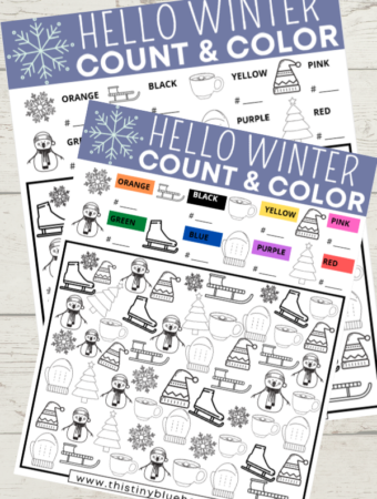 Free Printable Winter I Spy For Kids