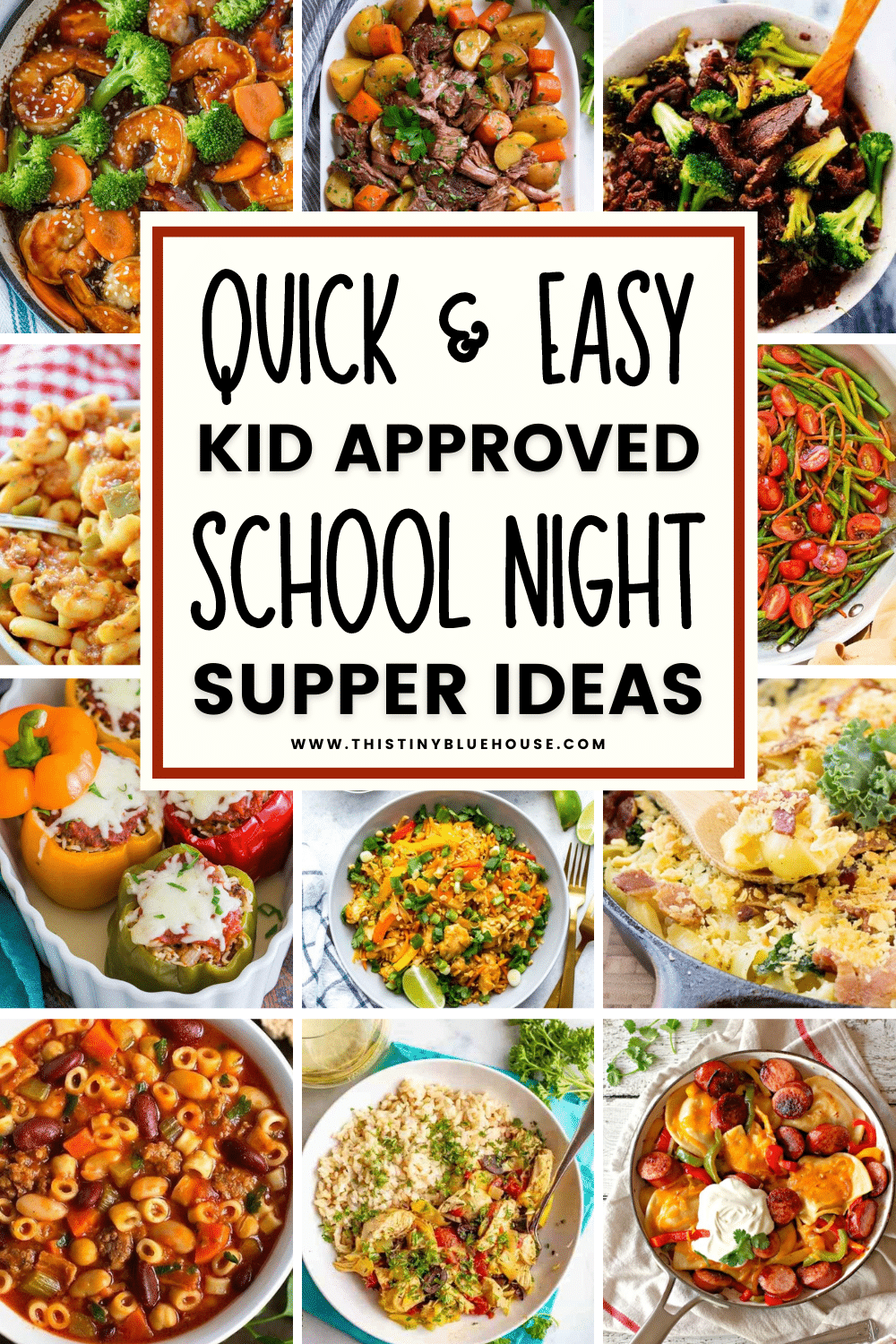 Is dinner a mess at your house? Whether you're getting in late from work, have to jet off to an extra-curricular activity or you just don't feel like cooking (that's okay mama!) these quick and easy school night dinner recipes make getting a wholesome kid approved dinner on the table as easy as possible.
