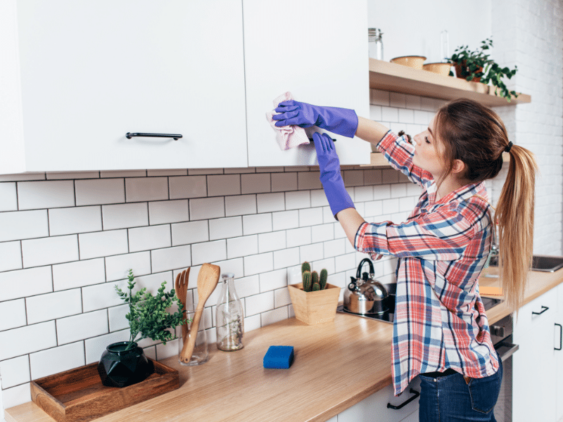 These genius spring cleaning hacks will get your home sparkling. Bonus FREE printable spring cleaning and guide to keep you motivated and on track.