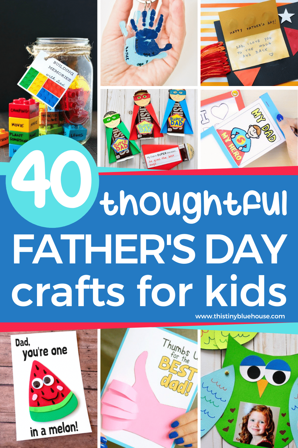 Here are 40+ cute Father's Day Crafts that are the perfect way to show dad how loved and appreciated he is this Father's day.