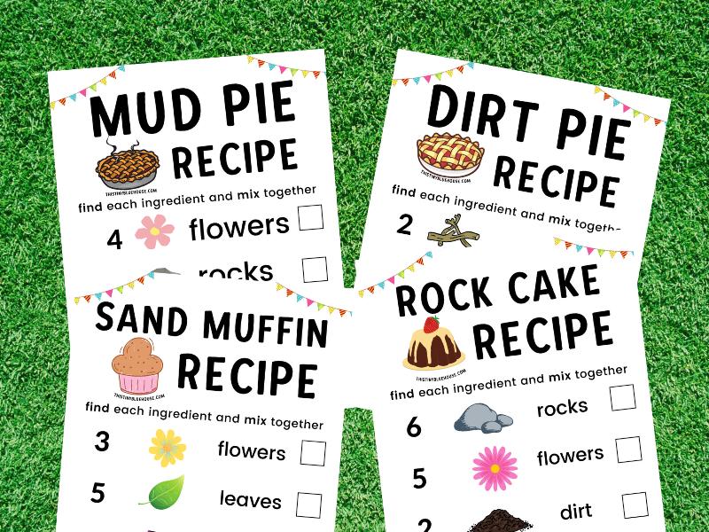 Free Printable Mud Kitchen Recipes