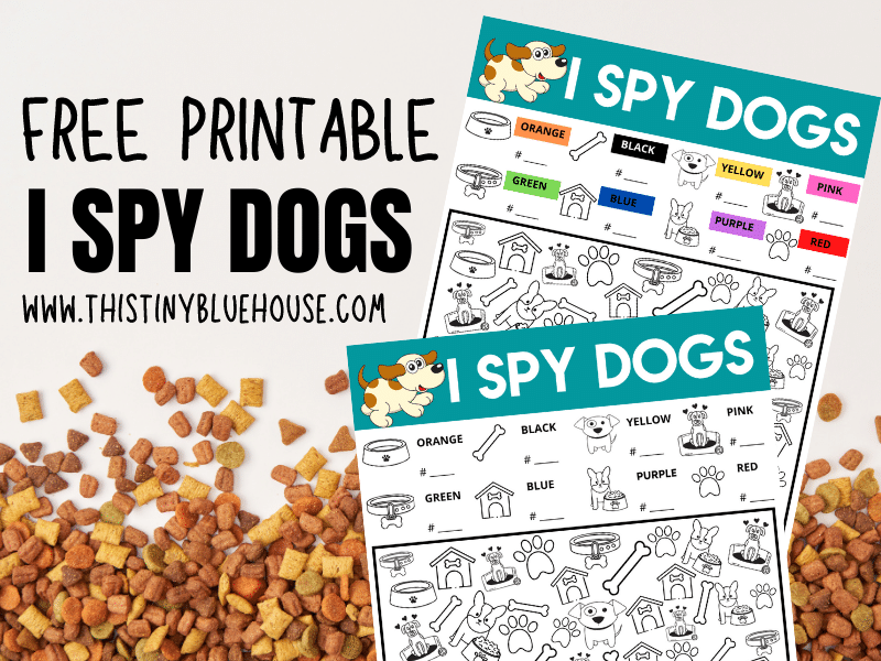 I Spy Dogs {Free Printable Game For Kids}