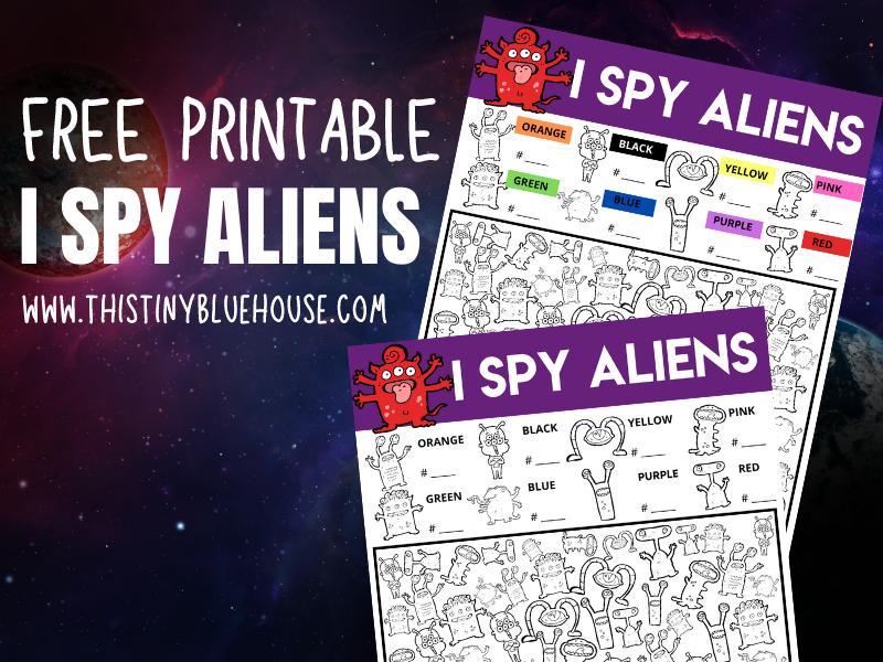 I Spy Aliens {Free Printable I Spy Worksheet For Kids}